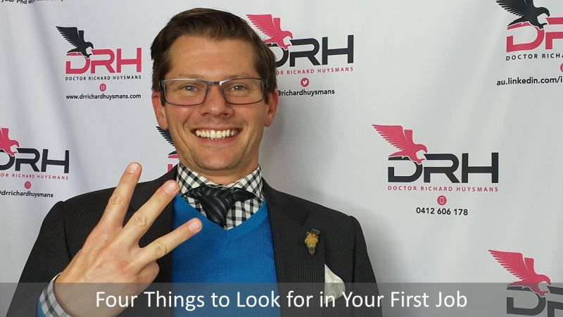 Four Things to Look for in Your First Job